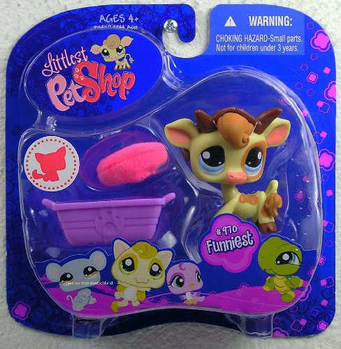 Buy Low Price Hasbro Littlest Pet Shop Assortment 'A' Series 3 Collectible Figure Cow with Horns (B0028FOIGC)