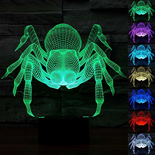 3D Spider Illusion Lamp, Night Light