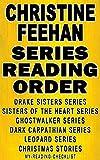 CHRISTINE FEEHAN: SERIES READING ORDER: MY READING CHECKLIST: SEA HAVEN: THE DRAKE SISTERS SERIES & SISTERS OF THE HEART SERIES, GHOSTWALKER SERIES, DARK CARPATHIAN SERIES, LEOPARD SERIES