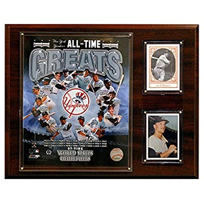 C and I Collectables MLB 15W x 12H in. New York Yankees All - Time Great Photo Plaque