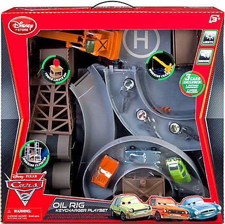 Disney Pixar Cars 2 Movie Exclusive Oil Rig Keycharger