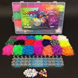 Toy - 4200 Loopy Loom Webstuhl-B�nder stellten Box Gummi Armband Deutsch Merkblatt Mitt 50 Buchstaben Perlen, 10 Perlen