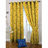 The Kids Decor (5 ft x 7 ft) One Premium 100% Cotton Music Beat Print Door Curtain