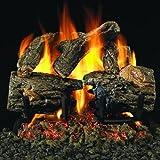 Peterson Real Fyre 16-inch Charred Oak Log Set With Vented Natural Gas G4 Burner - Match Light