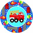 Fire Engine Fun Lunch Plates 8ct