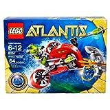 Lego Atlantis Series Set # 8057 - WRECK RAIDER With Flick Launching Harpoons Blue Atlantis Treasure Key Shark...