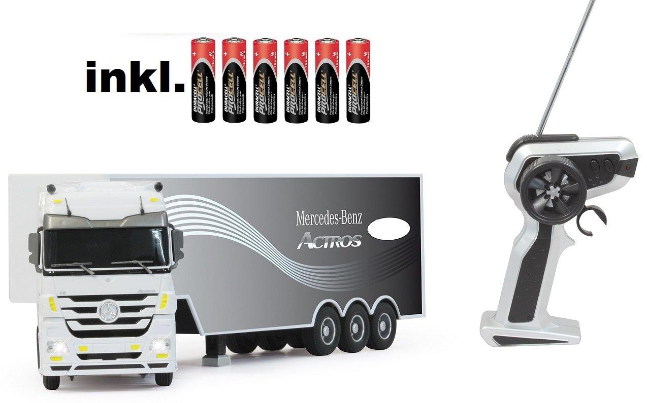RC ferngesteuerter LKW Mercedes Actros mit Sattelzug 1:32 inkl. Motorsound, automatisches An- und Abkuppeln,Licht, RTR inkl. Batterien günstig kaufen