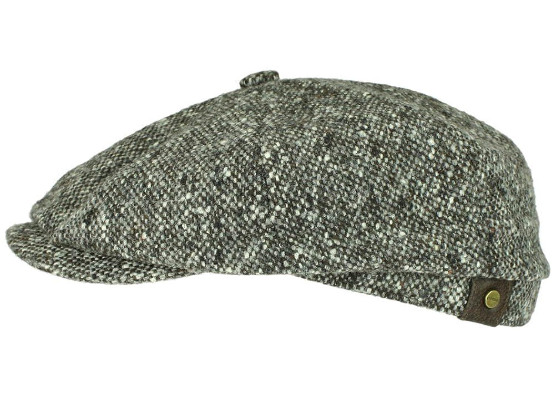 HATTERAS Tweed braun 463 Ballonmütze Schirmmütze Schurwolle von Stetson