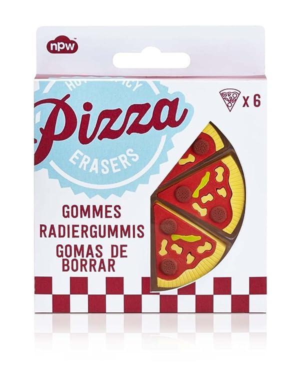 Novelty Pizza Shaped Eraser Set