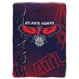 Northwest Atlanta Hawks NBA Royal Plush Raschel Blanket - Fierce Series - 60 x 80 Inch