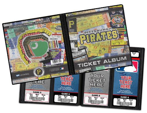 Pittsburgh Pirates Ticket Album, Holds 96 Tickets
