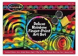 Melissa & Doug Deluxe Rainbow Finger-Paint Art Set
