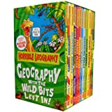 Anita Ganeri Horrible Geography Collection 12 Books Box Gift Set (Wild Islands, Violent Volacanoes, Stormy Weather, Raging Rivers, Perishing Poles, Odious Oceans, Monster Lakes, Freaky Peaks, Earth-shattering Earthquakes, Desperate Deserts, Cracking Coas