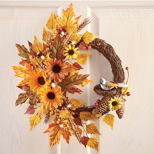 autumn home decor idea fall wreath
