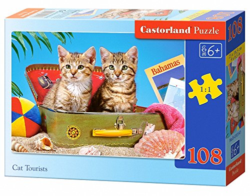 Castorland Cat Tourists Jigsaw (108-Piece)