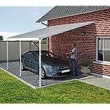 Hochwertige Aluminium Terrassenüberdachung, Terrassendach 300x730 cm (TxB) - weiß