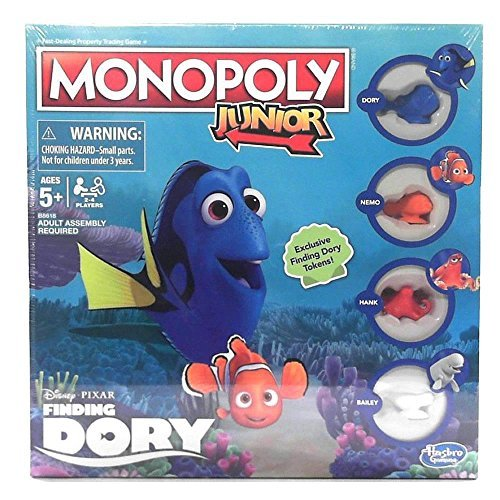 Finding Dory Junior Monopoly Board Game