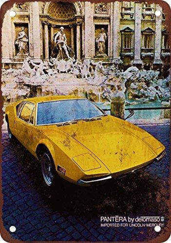 metal-wall-sign-1971-de-tomaso-pantera-vintage-look-reproduction-metal-tin-sign-wall-poster