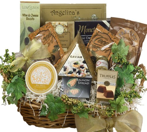Art of Appreciation The Savory Sophisticated Gourmet Food Gift Basket with Caviar - Large