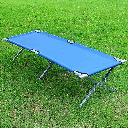 Extra Large Portable Folding Cot Camping Military Hiking Medical Bed Sleeping Hammock Camp Bed