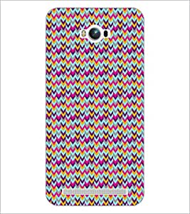 PrintDhaba ZigZag Pattern D-5909 Back Case Cover for ASUS ZENFONE MAX ZC550KL (Multi-Coloured)