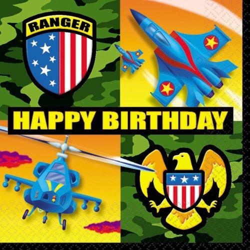 American Heroes Birthday Luncheon Napkins