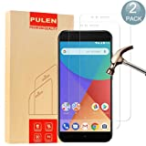 [2-Pack] Xiaomi MI A1 Screen Protector, PULEN 0.3MM Slim And 9H Hardness Tempered Glass [Anti-Scratch] [Bubble Free] Extreme Hardness with Lifetime Replacement Warranty