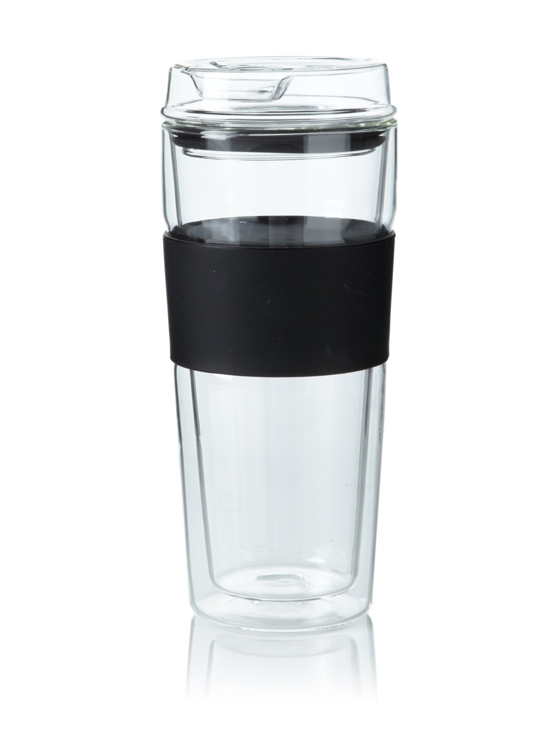 Glass Travel Mug With Silicone Lid