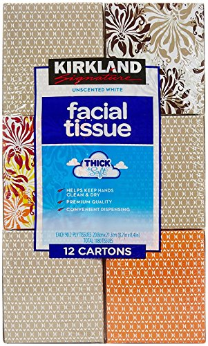 Kirkland Signature Facial Tissue, 2-Ply - 90 ct - 12 pk (Tissue Box Upright compare prices)