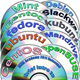 Linux Diversity Collection includes Ubuntu 11.04, Kubuntu 11.04, openSUSE 11.4, Fedora 15, Debian 6, CentOS 5.6, Mint 11, Gentoo 11, Mandriva 2010.2 and Slackware 13.37 in 12 DVDs Installation and Reference Set, 32-bit.