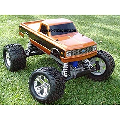(Ship from USA) 1972 Chevy C10 Traxxas Stampede 1/10 RC Monster Truck RTR Waterproof, 30+MPH