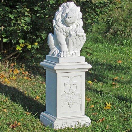 Löwe mit Wappen, rechtsblickend, auf großer Säule, 2-teilig günstig online kaufen