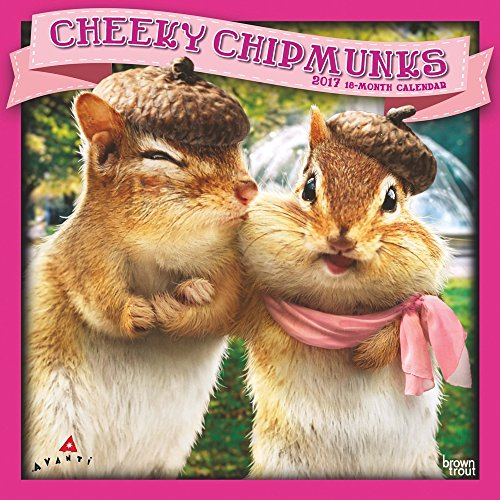 Cheeky Chipmunks 2017 Wall Calendar