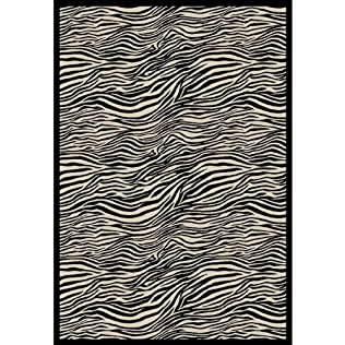 Zebra Rug Neutral Black/White 5'3''X7'6''