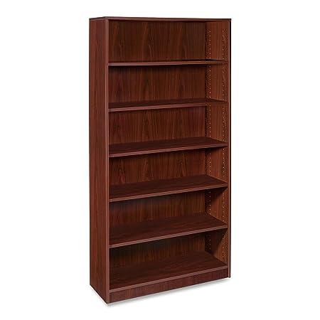 Lorell 5-Shelf Bookcase, 36 by 12-1/2 by 72-Inch, Mahogany