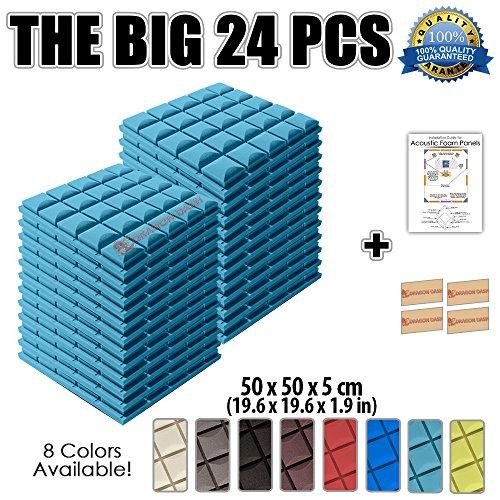super-dash-lot-de-24-de-50-x-50-x-5-cm-bleu-clair-insonorisation-hemisphere-champignon-acoustique-di