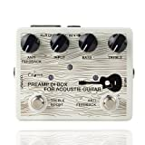 Caline Acoustic Guitar Effects Pedal Electric Guitar Preamp Acoustic DI Box Effects Pedals White CP-67 New Year Gifts (Color: White CP-67)
