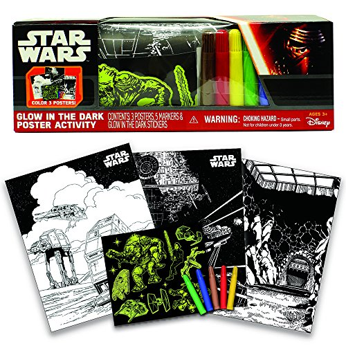 Star Wars Glow in The Dark Poster Activity Play Set