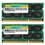 SP シリコンパワーノート【1.35V低電圧メモリ】- 1.5V 両対応省電力 204Pin DDR3L-1600(PC3L-12800) 8GB×2枚組 永久保証 SP016GLSTU160N22
