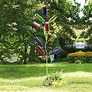 Amazon.com : Metal Bottle Tree Sculpture : Yard Art
