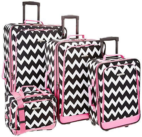 rockland-4-piece-luggage-set-pink-chevron-one-size