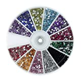 61 LQi1BLxL. SL160  MASH Rhinestones 2400 Piece 12 Color Nail Art Nailart Manicure Wheels