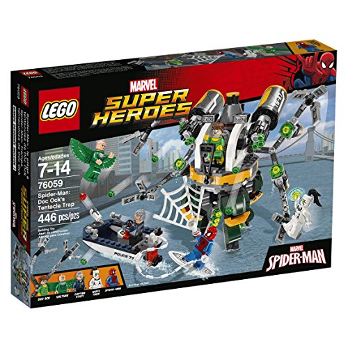 LEGO-Super-Heroes-76059-Spider-Man-Doc-Ocks-Tentacle-Trap-Building-Kit-446-Piece