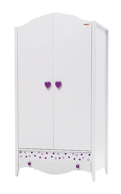 New Joy Princess 2-Door Children Wardrobe, 204 x 105 x 66 cm, White