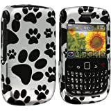 Dog Paw Design Crystal Hard Skin Case Cover for Blackberry Curve 8520 8530 3G 9300 9330