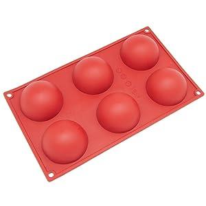 Umiwe(TM) Molde de 6 Cavidad Semicírculo Grande de Silicona de Pan, Molde de Decoración para Tarta con Umiwe Accesorio   revisión y descripción más