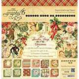 Graphic 45 12 Days of Christmas Pad, 12 by 12-Inch