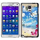 img - for King Case - FOR Samsung Galaxy Note 4 - Hawaii Palm Trees Beach - Designed Hard Plastic Protective Case book / textbook / text book