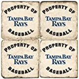 Property of Tampa Bay Rays Drink Coasters at Amazon.com
