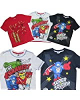 3 Pack Boys Superhero Squad Avengers T Shirt Tops